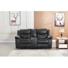 8006 GRAY Air Leather Power Recliner w/ USB Loveseat