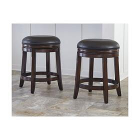 Porter Uph Swivel Stool Rustic Brown