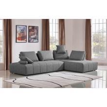 Divani Casa Edgar Modern Grey Fabric Modular Sectional Sofa