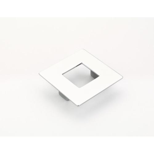 Finestrino, Pull, Square, Polished Chrome, 64 mm cc