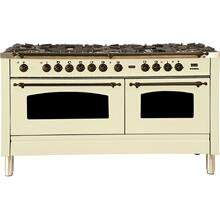 "60"" Inch Antique White Natural Gas Freestanding Range"