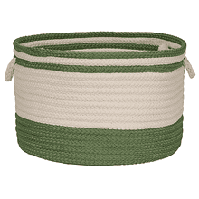 "Bar Harbour Basket BH61 Moss Green 14"" X 10"""