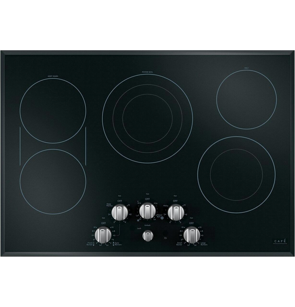 "Cafe AppliancesCafé™ 30"" Knob-Control Electric Cooktop"