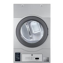"Crossover True Commercial Laundry - 7.0 CF Heavy Duty Bottom Control Gas Dryer, Coin Option Included/Card Ready, Silver, 27"" (Stacked application)"