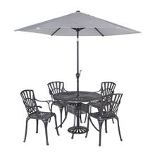 See Details - Grenada 5 Piece Outdoor Dining Set With Umbrella