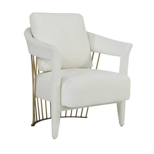 Aztec Cream Velvet Chair