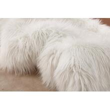 "Modern Fox Faux Fur Luxury Area Rug Appx. 3"" Pile Height by Rug Factory Plus - 2' x 3' / White"