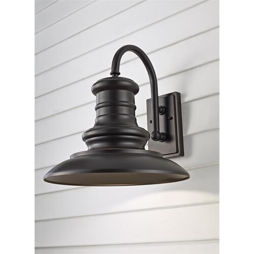 Redding Station Large Lantern Textured Black