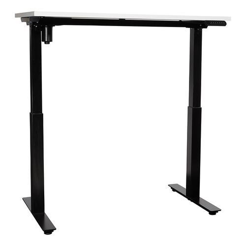 48x24 Single-motor Height Adjustable Table, White Top/black Base