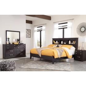 King Bookcase Bed With Dresser
