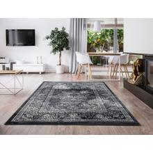 "Durable Flat Weave No Shedding Lifestyle 672 Area Rug by Rug Factory Plus - 7'6"" x 10'3"" / Silver"