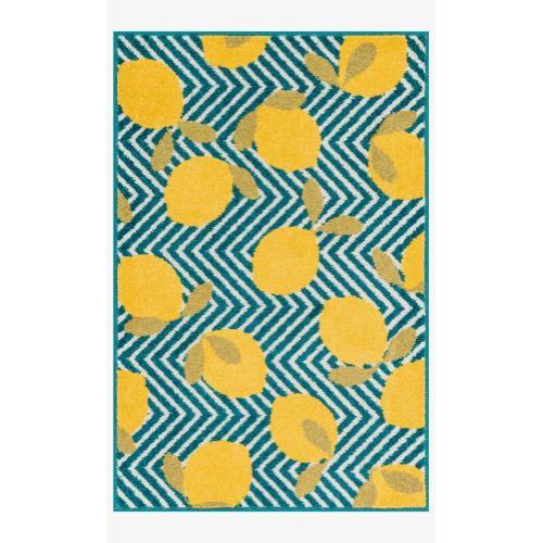 Hti05 Blue / Yellow Rug