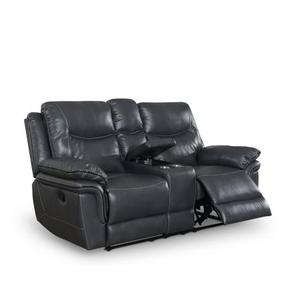 Isabella Console Loveseat Recliner, Grey