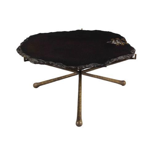 Tov Furniture - Serra Black Stone Cocktail Table