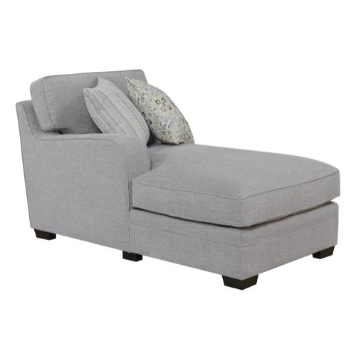 Emerald Home Analiese Sectional Chaise Linen Gray U4315-11-13