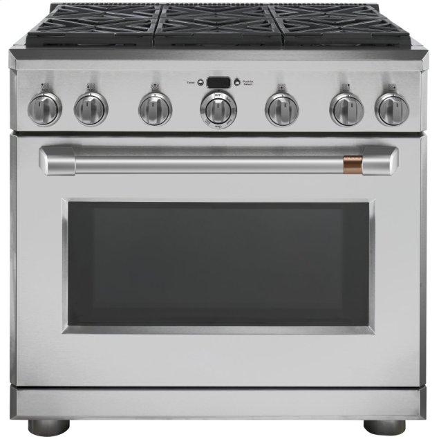 """Cafe Appliances 36"""" All-Gas Professional Range with 6 Burners (Natural Gas)"""