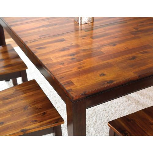 """Abaco 48-60 inch Dining Table w/12""""Butterfly Leaf"""