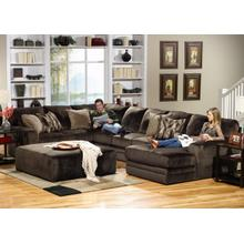 Jackson 4377-62 4377-30 4377-76 4377-28 4-pc Everest Sectional Sofa and Ottoman
