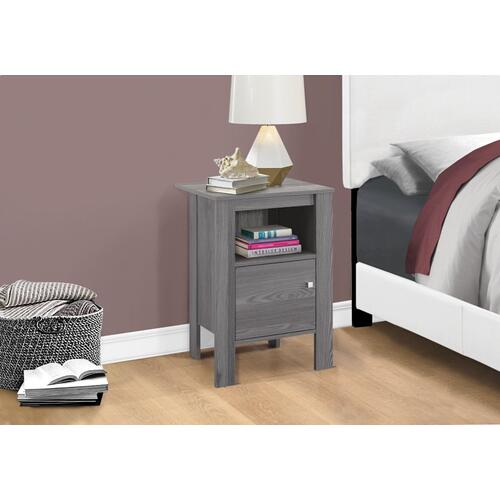 Gallery - ACCENT TABLE - GREY NIGHT STAND WITH STORAGE