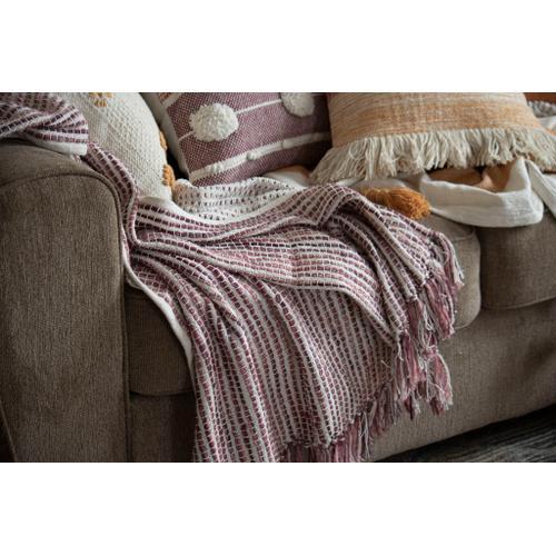 Foreside Home & Garden - Hand Woven Lorraine Throw Mauve
