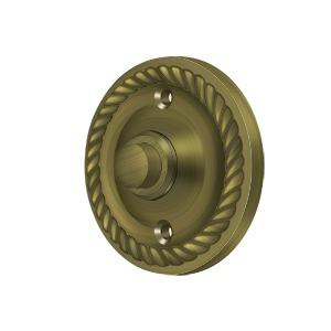 Deltana - Bell Button, Round with Rope - Antique Brass