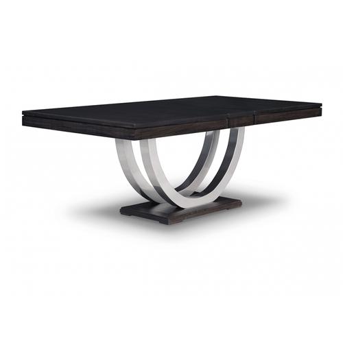 - Contempo Metal Curve Pedestal 48x60+3-12 Dining Table
