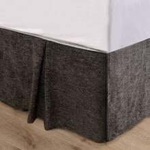 Black Chenille Bed Skirt - King