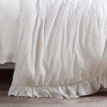 Product Image - Lily Washed Linen Duvet, White - Super King