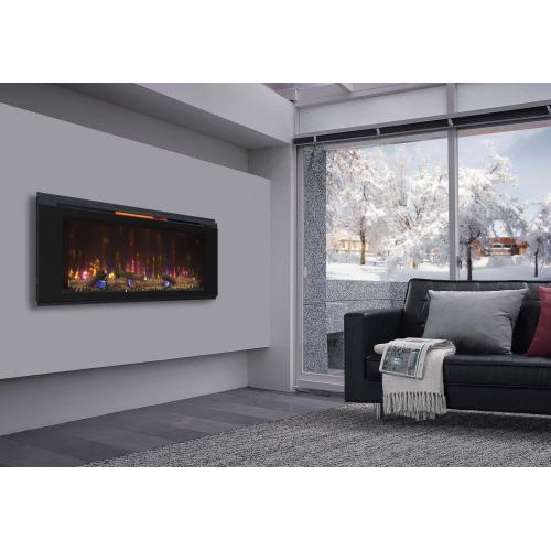 """Product Image - Helen 48"""" Wall Mounted Electric Fireplace, Black"""