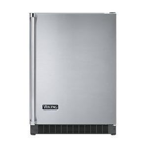 """Viking - Stainless Steel 24"""" Solid Door Beverage Center - VUAR (Right Hinge Solid Door)"""