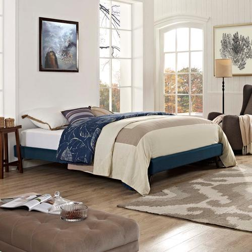 Modway - Loryn Queen Fabric Bed Frame with Round Splayed Legs in Azure