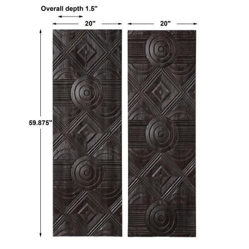 Asuka Wood Wall Panels, S/2