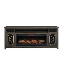 "Heathrow TV Stand with Two Speakers for TVs up to 80"", Tifton Oak (Electric Fireplace sold separately)"