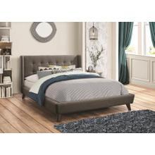 See Details - Grey Fabric Full Size Platform Bed Frame