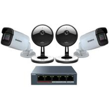 4-Camera 1080p Indoor/Outdoor Security Cloud System with 5-Port PoE Switch