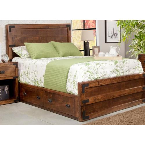Handstone - Saratoga Double 4 Drawer Storage Platform Bed With 30'' High Footboard
