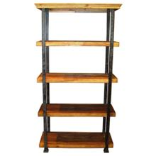 See Details - Rustic Pine 5 Shelves Bookcase