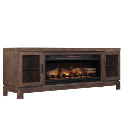 """Berkeley TV Stand for TVs up to 80"""", Spanish Gray (Electric Fireplace Insert sold separately)"""