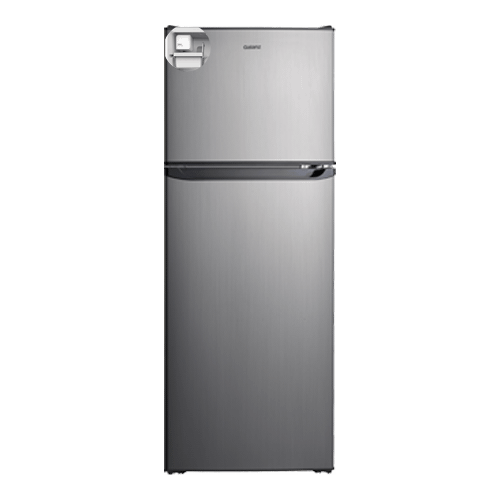 Galanz 10.0 Cu Ft Top Mount Refrigerator with Built-in Ice Maker in Stainless Steel Look