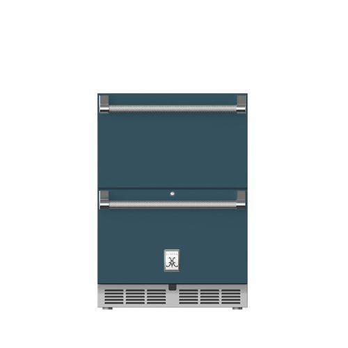 "24"" Hestan Outdoor Refrigerator Drawers - GRR Series - Pacific-fog"