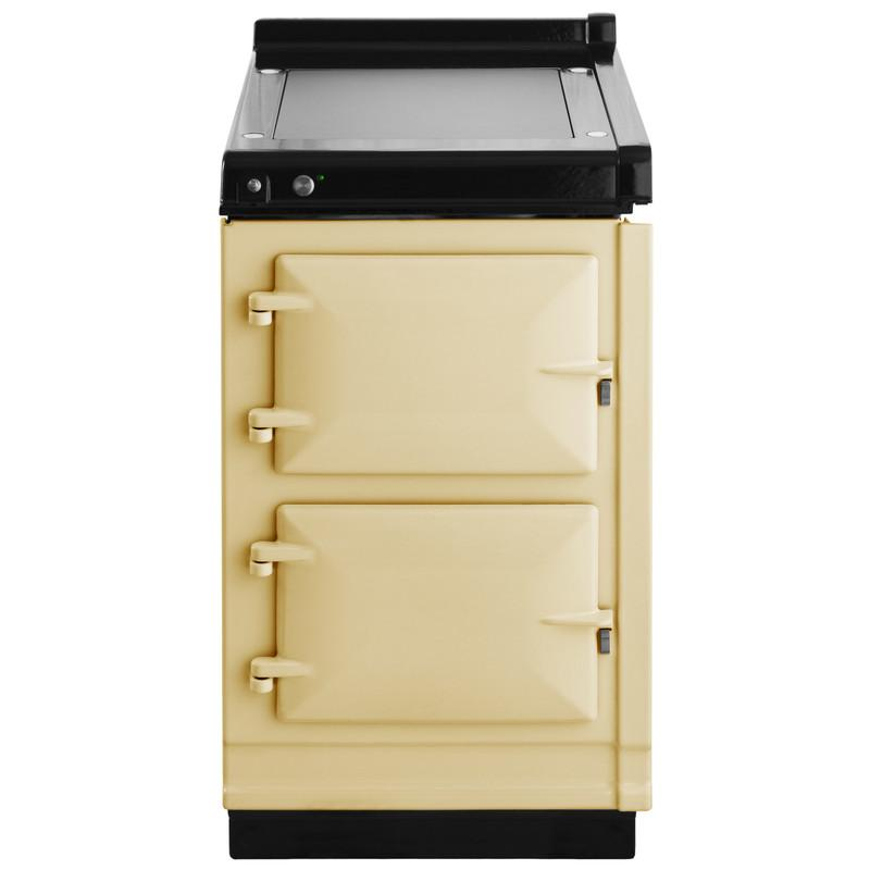 """AGAAga Hotcupboard 20"""" Electric Cream With Stainless Steel Trim"""