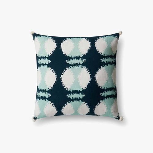 P0480 Teal / White Pillow