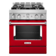 KitchenAid® 30'' Smart Commercial-Style Gas Range with 4 Burners - Panel Ready