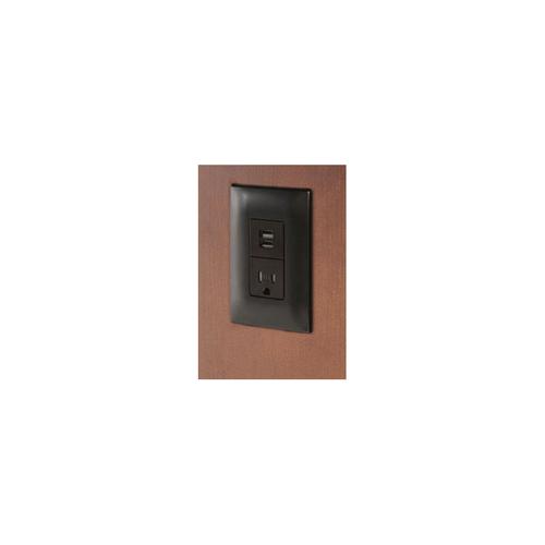 Power & USB Ports - Black