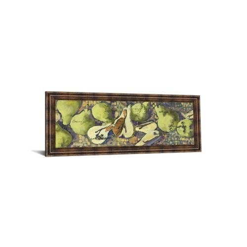 "Classy Art - ""Sparkling Pears Il"" By Silvia Rutledge Framed Print Wall Art"