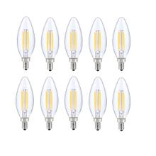 LED E12 CANDELABRA, BLUNT TIP, 3000K, 300 °, CRI80, ES, UL, 6W, 40W EQUIVALENT, 15000HRS, LM480, DIMMABLE, 2 YEARS WARRANTY, INPUT VOLTAGE 120V