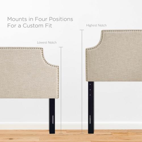 Modway - Laura Queen Upholstered Fabric Headboard in Beige