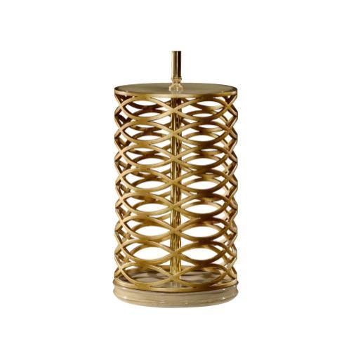 Gilded Interlaced Iron Table Lamp Base