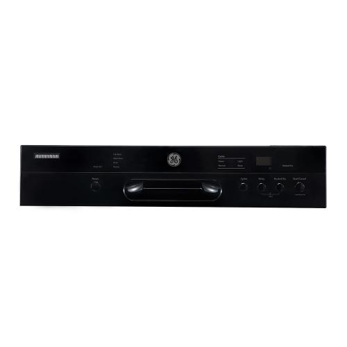 """GE 24"""" Built-In Front Control Dishwasher with Stainless Steel Tall Tub Black - GBF412SGMBB"""