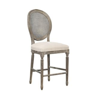 Renton Counter Stool, Rattan Back